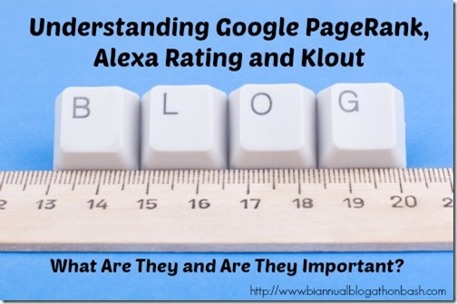 Understanding Google PageRank, Alexa and Klout