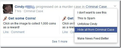 Hide Games from News Feed