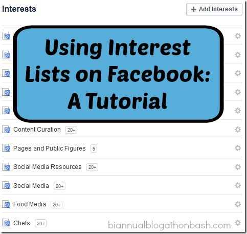 Using Interest Lists on Facebook