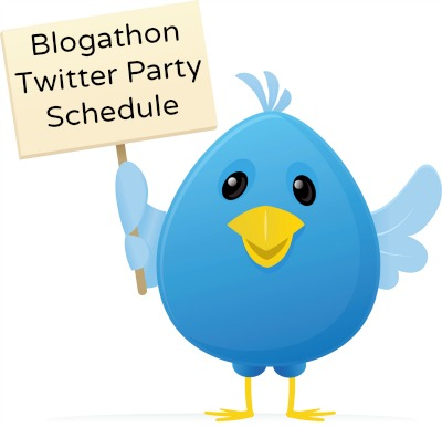 Blogathon Twitter Party Schedule
