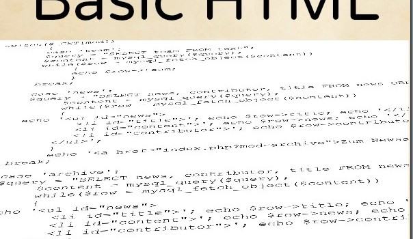 How to Understand Basic HTML
