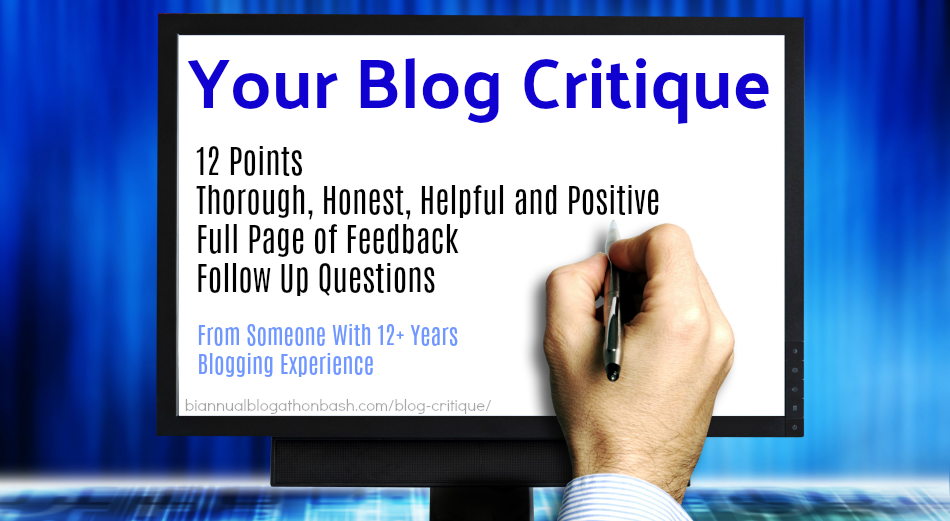 Your Blog Critique - Get It Here