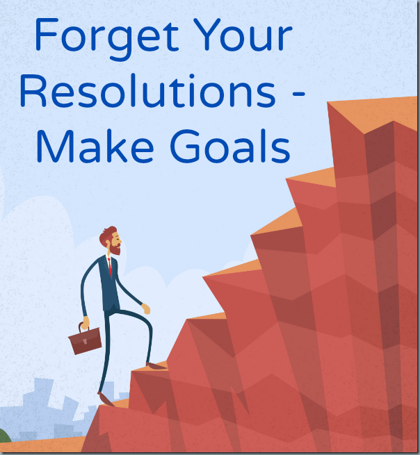 Make Goals - Forget Your Resolutions