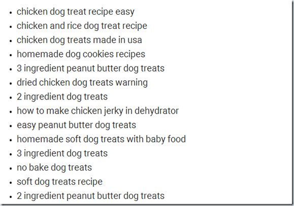 LSI-keyword-dog-treats