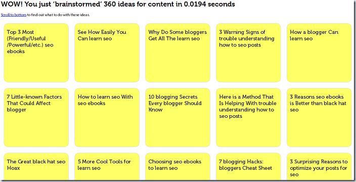 Quandry Content Idea Generator